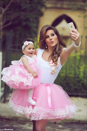Cute Dresses Prom Color Australia - Little Flower Girl Dress Cute Bridesmaid Dress Tea Length Hand Made Flowers Bows Kids Prom Birthday Dress