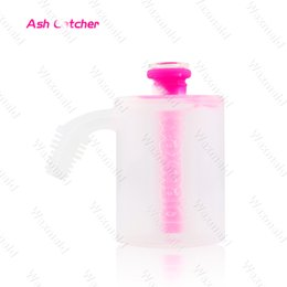 big silicone bong NZ - Ash Catcher Dab Rig for 14mm 18mm Slide Glass Water Pipe Big Water Bong with Display Box