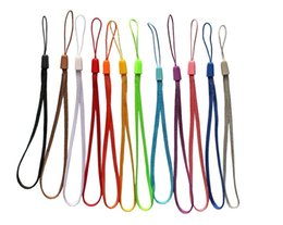 Wholesale Universal cell phone wrist hand Straps Colorful straps Nylon Short Hang Wrist Ropes Hang Rope Lariat Lanyard for Phone Camera USB MP4 PSP