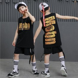 Belly T Shirts Australia - kid Hip Hop Clothing Casual T Shirt Tops Performance Pants Girls Boys Jazz Dance wear Costumes Ballroom Dancing Clothes Outfits