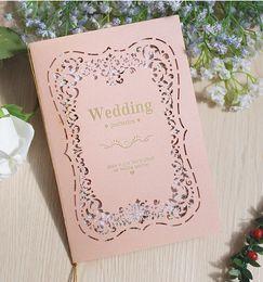 Modern Invitations NZ - 2018 Custom Made Elegant Modern 6 color Laser Cut Pocket Wedding Invitation Suite With Envelope, Free Shipped