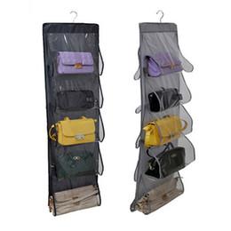 Discount backpack hangers - bag closet 10 Pocket Family Organizer Backpack Handbag Hanging Holder Storage Bags Closet Shoe Bag Rack Hangers Home Org