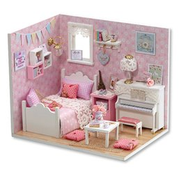 Toys For Years Child NZ - DIY Doll House Miniature with Furniture Wooden Dollhouse Miniaturas Toys for Children Christmas New Year GIFT