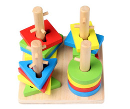 $enCountryForm.capitalKeyWord Canada - Wooden quality four-column sets of matching blocks geometry Children enlightenment intelligence toys 1-2-3 years old