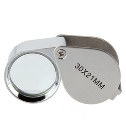 science diamonds UK - 30x21mm Jewelers Eye Loupes Jewelry Diamond Magnifiers Magnifying Glass Ingenious portable Loupe Magnifier Silver color in retail box