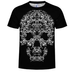 Black Shirt Loose Skull Australia - Women Summer High Quality Hip Hop Short Sleeve Plus Size T-shirts Loose Casual Round Neck 3D Black Skull Print Girls T-shirts