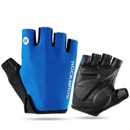 Road Bicycle Gloves Australia - Road Bike Gloves Half Finger Cycling Gloves 5mm Sponge Pad Anti-shock Bicycle Gloves Guantes Ciclismo Bike Mittens Accessories
