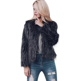 f59f0eac96178 Fluffy Hair Jacket Short Faux Fur Coat Womens Winter Fake Fur Overcoat Plus  Size Coat Female Jackets Coats Outerwear XXXL