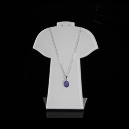 5c76153e591 Acrylic Pendant Necklace Earring Set Display Stand Jewelry Chain Pendant  Charm Necklaces Earrings Displays for Shop Showcase Set of 3