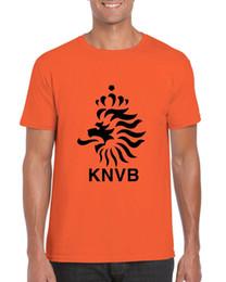 Discount football dress men - Holland Dutch Netherlands Fancy Dress Novelty Orange TShirt Football Funny free shipping Unisex Casual