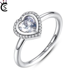 9a58463cf 925 Pandora Style Rings Australia - Spring Collection 925 Sterling Silver  Sparkling Love Heart Ring Women