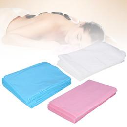 Nouveau 80 x 180cm imperméable jetable SPA Bedsheet non-tissé Salon de beauté Massage Table Linge de lit Couverture médicale Voyage Utilisation en Solde