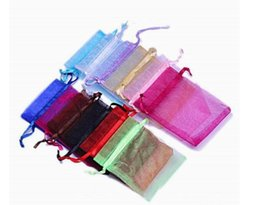 Organza vOile gift packaging bags online shopping - 500pcs Solid Multi Color Organza Jewelry Bags Luxury Wedding Voile Gift Bag Drawstring Jewelry Packaging Christmas Gift Pouch cm