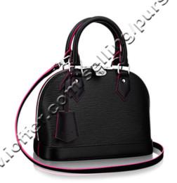 89fc4b8b15 Cotton Rose Bags NZ - ALM BB M54160 NOIR ROSE BLACK PINK WOMEN HANDBAGS SHOULDER  MESSENGER