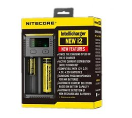 Lcd i4 online shopping - Original Nitecore New I2 Digicharger LCD Display Battery Charger Universal Nitecore i2 Charger VS Nitecore i4 free ship