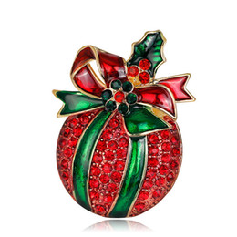 $enCountryForm.capitalKeyWord UK - Red Gift Christmas Gift Xmas Crystal Cartoon Brooch Gift Pin Colorful Snail Brooches Pins Jewelry Brooches for Men Women