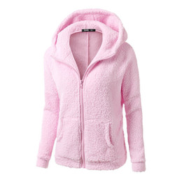 Wholesale fleece jackets ladies resale online – Women Autumn Winter warm Hoodies Fleece Hooded Long Sleeve Zipper Thicken Coat Outwear Sudaderas Jacket Sweatshirts Lady Hot Sale