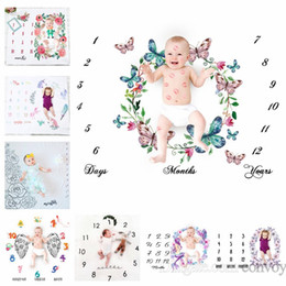 Wholesale 29 types newborn baby photography background props baby photo fabric backdrops infant blankets wrap letter flower numbers print cloth BHB26