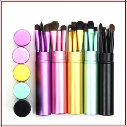 Horse Suit NZ - Hot sale portable 5 colors cosmetic brush suit foundation brush blusher brush beauty and cosmetic tools T3F0047