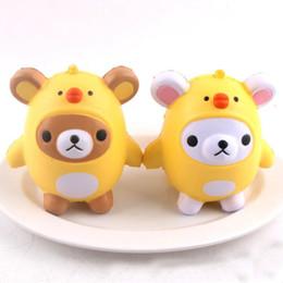 Panda gifts online shopping - Squishy Toys panda chicken egg Kawaii Animal Slow Rising Jumbo Squeeze Phone Charms Stress Reliever Kids Gift squishies