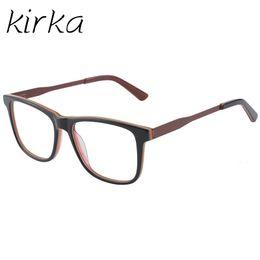 d71b3a57dc2 Kirka Acetate Spectacle Frame Eyeglasses Stylish Color Men Computer Optical  Frames For Male Armacao Oculos de