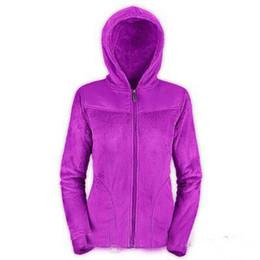 Discount ladies softshell jacket - 2018 new Winter Women Fleece Osito Jackets Fashion Winter Oso Hooded SoftShell Jacket Ladies Outdoor Down Ski Coat Windp