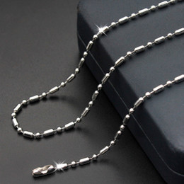 Bamboo Necklace Beads Australia - High Quality 316L Stainless Steel Bamboo Bead Chains Link Necklace Jewelry Accessories Men Women Lobster Clasps Chain Jewelry