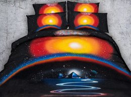 Discount teen bedding sets full - 4 6pcs JF398 Mystic universal and pyramid bedding set teens duvet cover full single size 3d bed sheets Queen Super King