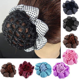 Crochet Snood Hair Net Australia - Women Fashion Bun Cover Hair Snood Ballet Dance Skating Crochet Hair Net