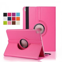 Ipad aIr leather cases online shopping - For iPad Pro air Mini Magnetic Rotating leather case Smart cover Stand