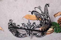 $enCountryForm.capitalKeyWord Australia - Metal black Masquerade Mask for Carnival Halloween Set auger Venetian mask Half Face Ball Party Masks Festive Party Supplies cosplay mask 16