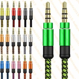 $enCountryForm.capitalKeyWord Australia - 3.5mm Auxiliary AUX Extension Audio Cable Unbroken Metal Fabric Braiede Male Stereo cord 1.5M 3M for iphone Samsung MP3 Speaker Tablet PC