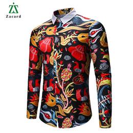 $enCountryForm.capitalKeyWord Australia - Zacard 2018 Hip Hop Men Shirt Asian Size Slim Fit Men's Fashion Flower Shirt Single Breasted Printing Shirts For Men
