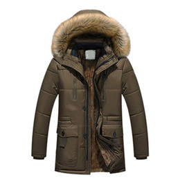 man fur hat UK - New Winter Jacket Men Parka Coats Thick Long Jackets 2018 Fur Hooded Warm Outwear Top Clothes Plus Size Male Clothing Casual