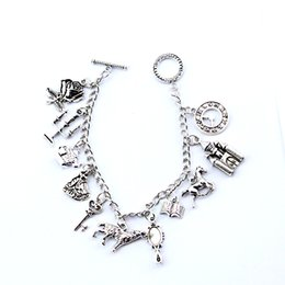 $enCountryForm.capitalKeyWord NZ - MQCHUN Snow White Charm Bracelet Fashion Once Upon a Time Fairy Tale Jewelry Pendant Crystal Bead Bangle Bracelet For Women Girl