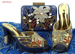 $enCountryForm.capitalKeyWord Canada - Italian Shining shoes matching bag set African Shoes and bags purse set Clutch party bags Nigeria high heels in high quality BL1-12230