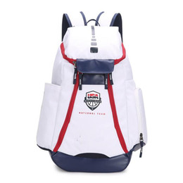 China Basketball Backpacks Brand New Olympic USA Team Packs Backpack Man's Large Capacity Waterproof Training Travel Bags Shoes Bags Drop Shipping suppliers