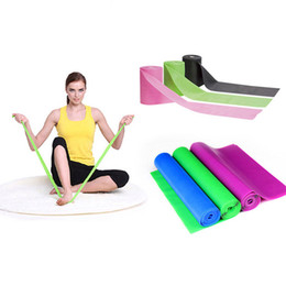 Yoga Exercise Resistance Band Canada - Natural Emulsion Yoga Belt Exercise Resistance Belt Stretch Fitness Strength Training Latex Elastic Bands Workout 150cm