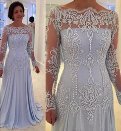 $enCountryForm.capitalKeyWord NZ - 2019 Cheap Long Sleeves Mother Of The Bride Dresses Bateau Neckline Appliques Lace Pearls Mother Dress Wedding Guest Evening Gowns Plus Size