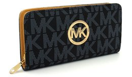 Ladies siLk beLts online shopping - Hot famous brand fashion single zipper cheap luxury designer women pu leather wallet lady ladies long purse