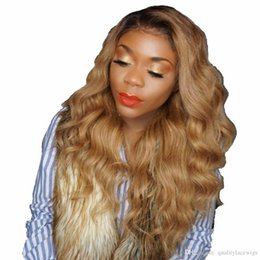 150 Density Ombre 1b 27 Honey Blonde Lace Wig Body Wave Wavy Remy Hair Glueless Full Lace Human Hair Wigs For Black Women