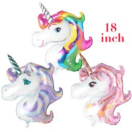 Rainbow Unicorn animal Balloons Party Supplies Foil Balloons Kids Cartoon Animal Horse Party Wedding Christmas Decoration globos ballon