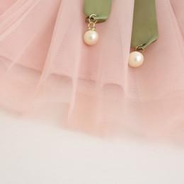 long tutu skirt kids 2019 - Summer Kids new printed dress girls princess soft bow baby skirt children clothes tutu skirt kid clothing long lace 2pcs