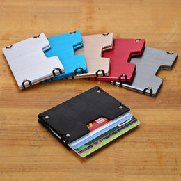 Business Card Holder Magnetic Australia - European and American anti-magnetic aluminum metal card package anti-theft credit card package wholesale card box