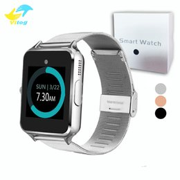 China Bluetooth Smart Watch Z60 Smart Watch Stainless Steel Wireless Smart Watches Support TF SIM Card For Android IOS With Retail Package suppliers