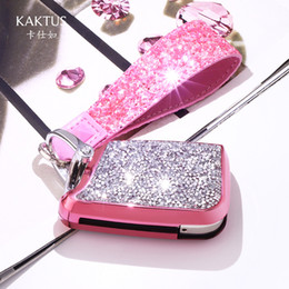 Aluminum Phone Case Wallet NZ - Car keychain suitable for Volkswagen keychain case buckle diamond-encrusted ladies keychain