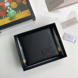 Best Brand Leather Purses Canada - black best wallet with box women brand Genuine Leather square wallet purse women cardholder 428749