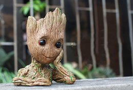 $enCountryForm.capitalKeyWord Canada - Fashion Guardians of The Galaxy Flowerpot Baby Groot Action Figures Cute Model Toy Pen Pot Best Christmas Gifts For Kids