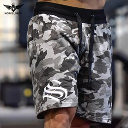 d87d61fa726b87 Men's Army camouflage Shorts With Pockets Bodybuilding Clothing Men Golds  Athlete Fitness Bermuda Weight Lifting Workout Cotton