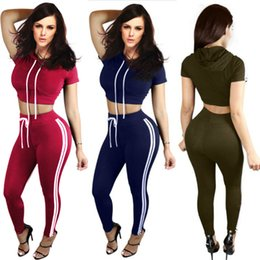$enCountryForm.capitalKeyWord Canada - Women Summer Jumpsuit Fashion Sexy Ladies Women Short Sleeve Crop Top High Waist Pants Two Piece Playsuits Sets Casual Tracksuits Yoga suit